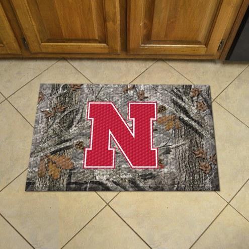 Nebraska Cornhuskers Camo Scraper Door Mat
