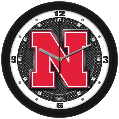 Nebraska Cornhuskers Carbon Fiber Wall Clock