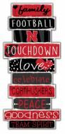 Nebraska Cornhuskers Celebrations Stack Sign