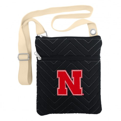 Nebraska Cornhuskers Chevron Stitch Crossbody Bag