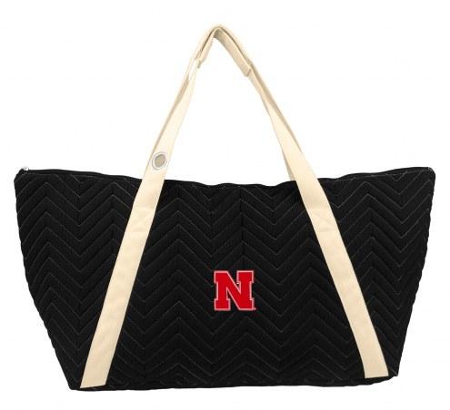 Nebraska Cornhuskers Chevron Stitch Weekender Bag