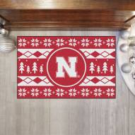 Nebraska Cornhuskers Christmas Sweater Starter Rug