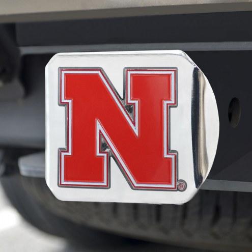 Nebraska Cornhuskers Chrome Color Hitch Cover