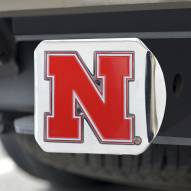 Nebraska Cornhuskers Chrome Color Hitch Cover