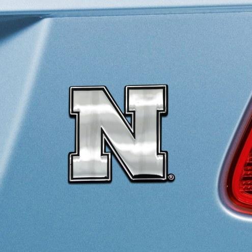 Nebraska Cornhuskers Chrome Metal Car Emblem