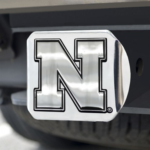 Nebraska Cornhuskers Chrome Metal Hitch Cover