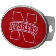 Nebraska Cornhuskers Class II and III Oval Metal Hitch Cover