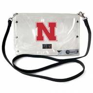 Nebraska Cornhuskers Clear Envelope Purse