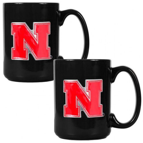 Nebraska Cornhuskers College 2-Piece Ceramic Coffee Mug Set