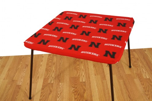 Nebraska Cornhuskers Card Table Cover