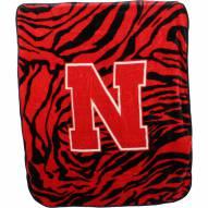Nebraska Cornhuskers Raschel Throw Blanket