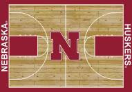 Nebraska Cornhuskers College Home Court Area Rug