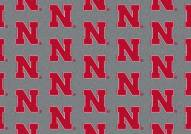 Nebraska Cornhuskers College Repeat Area Rug