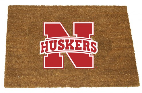 Nebraska Cornhuskers Colored Logo Door Mat