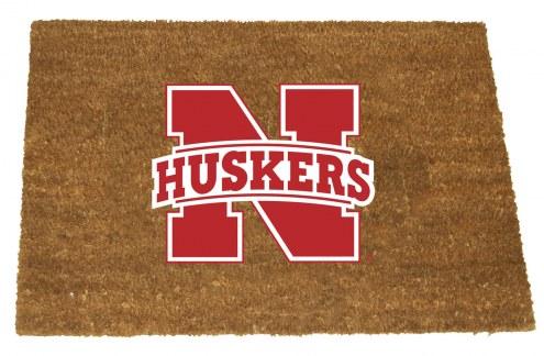 Nebraska Cornhuskers Colored Logo Door Mat