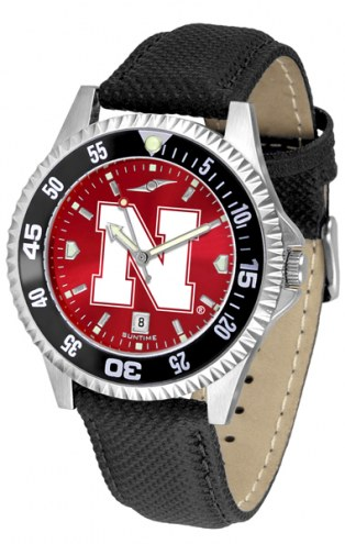 Nebraska Cornhuskers Competitor AnoChrome Men's Watch - Color Bezel