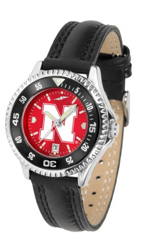 Nebraska Cornhuskers Competitor AnoChrome Women's Watch - Color Bezel