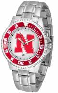Nebraska Cornhuskers Competitor Steel Men's Watch