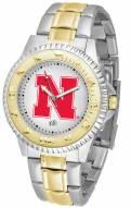 Nebraska Cornhuskers Competitor Two-Tone Men's Watch