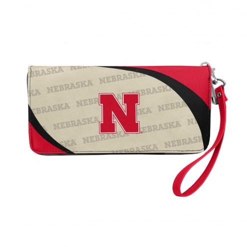Nebraska Cornhuskers Curve Zip Organizer Wallet