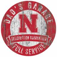 Nebraska Cornhuskers Dad's Garage Sign