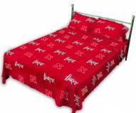 Nebraska Cornhuskers Dark Bed Sheets