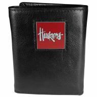 Nebraska Cornhuskers Deluxe Leather Tri-fold Wallet in Gift Box