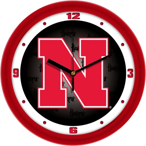 Nebraska Cornhuskers Dimension Wall Clock