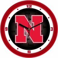 Nebraska Cornhuskers Dimension Wall Clock