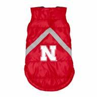 Nebraska Cornhuskers Dog Puffer Vest