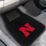 Nebraska Cornhuskers Embroidered Car Mats