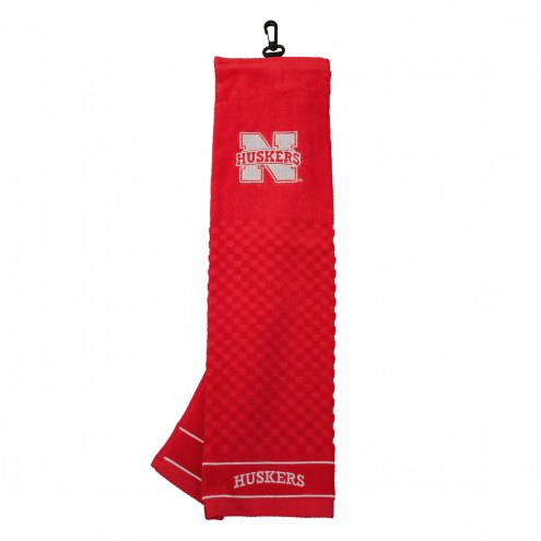 Nebraska Cornhuskers Embroidered Golf Towel