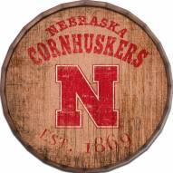 "Nebraska Cornhuskers Established Date 16"" Barrel Top"