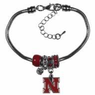 Nebraska Cornhuskers Euro Bead Bracelet