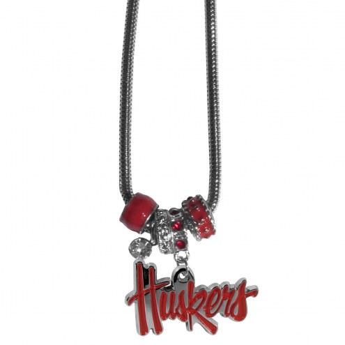 Nebraska Cornhuskers Euro Bead Necklace