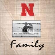 Nebraska Cornhuskers Family Picture Frame
