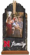 Nebraska Cornhuskers Family Tabletop Clothespin Picture Holder