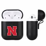 Nebraska Cornhuskers Fan Brander Apple Air Pods Leather Case