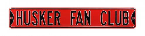 Nebraska Cornhuskers Fan Club Street Sign