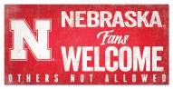 Nebraska Cornhuskers Fans Welcome Sign