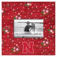 "Nebraska Cornhuskers Floral 10"" x 10"" Picture Frame"
