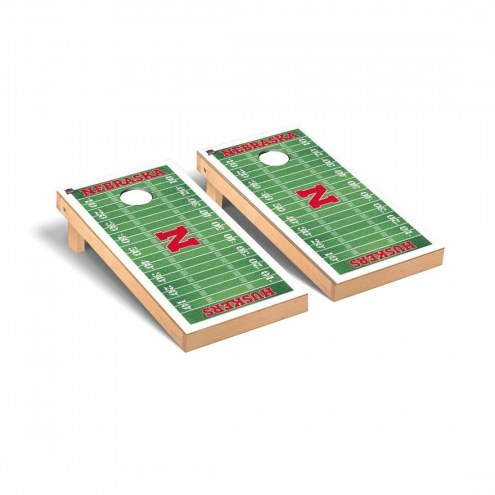 Nebraska Cornhuskers Football Field Cornhole Game Set
