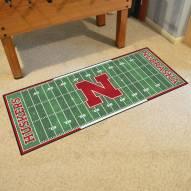 Nebraska Cornhuskers Football Field Runner Rug