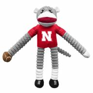 Nebraska Cornhuskers Team Sock Monkey Pet Toy
