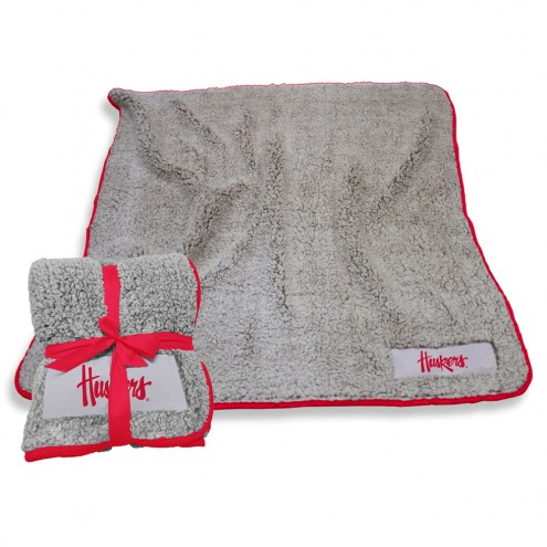 Nebraska Cornhuskers Frosty Fleece Blanket