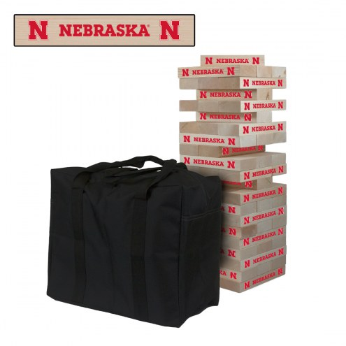 Nebraska Cornhuskers Giant Wooden Tumble Tower Game