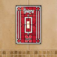 Nebraska Cornhuskers Glass Single Light Switch Plate Cover
