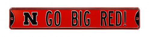 Nebraska Cornhuskers Go Big Red Street Sign