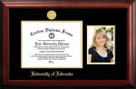 Nebraska Cornhuskers Gold Embossed Diploma Frame with Portrait
