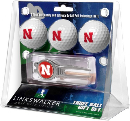 Nebraska Cornhuskers Golf Ball Gift Pack with Kool Tool